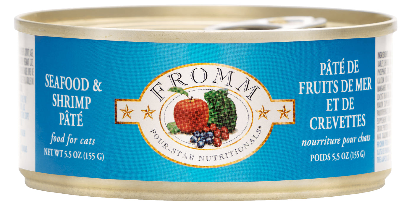 Fromm Four Star Grains Cat Can Food, Pate Seafood & Shrimp