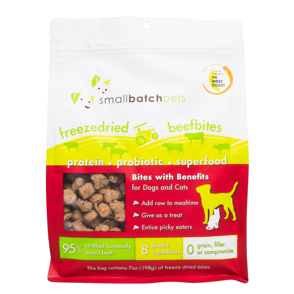 Small Batch Cat & Dog Freeze Dried Food Small Bites Beef, 7oz