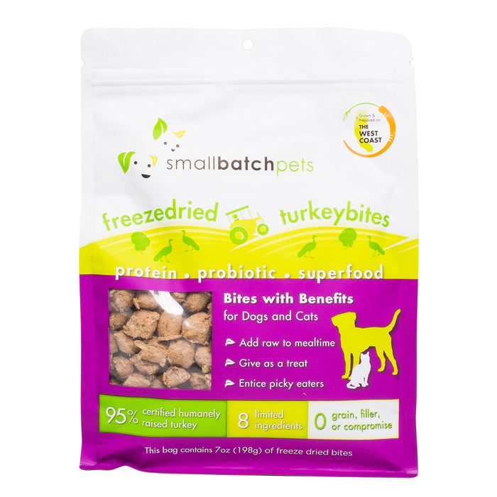 Small Batch Cat & Dog Freeze Dried Food Small Bites Turkey, 7oz