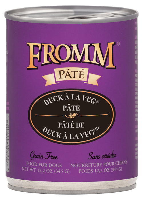Fromm Grain Free Dog Can Food, Pate Duck Ala Veg