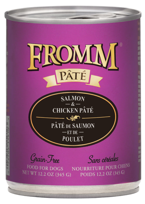 Fromm Grain Free Dog Can Food, Pate Salmon & Chicken
