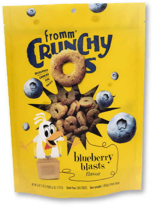 Fromm Crunchy O's Dog Treats BlueBerry Blast, 6oz
