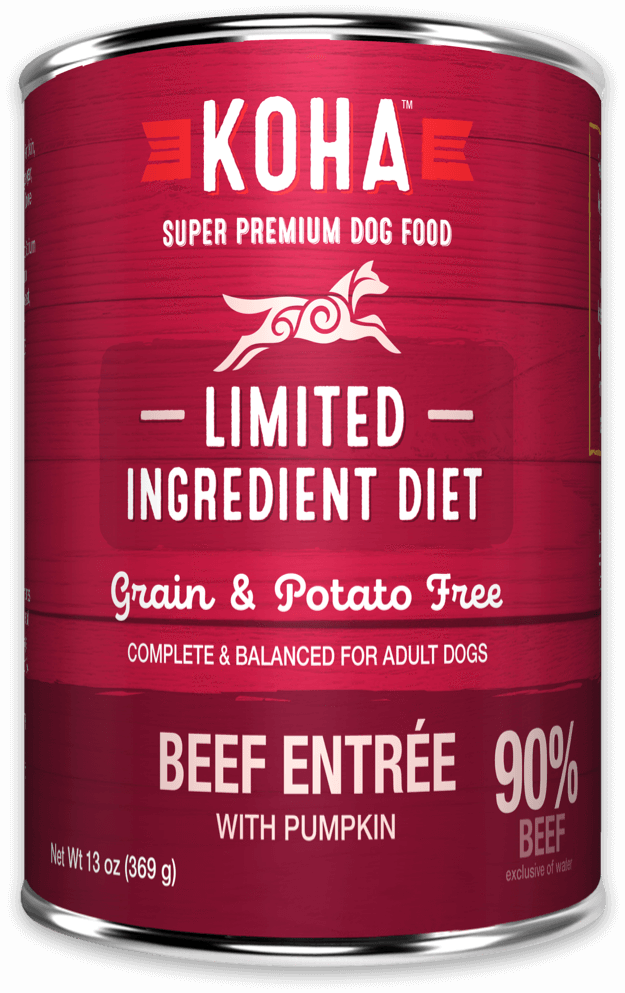 Koha Limited Ingredient Dog Grain Free Can Food 90% Beef