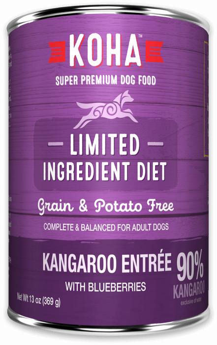 Koha Limited Ingredient Dog Grain Free Can Food 90% Kangaroo