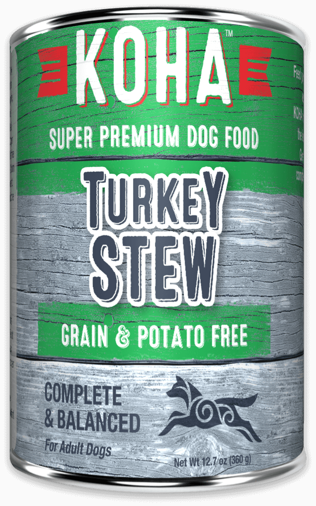 Koha Stew Dog Grain Free Can Food Turkey