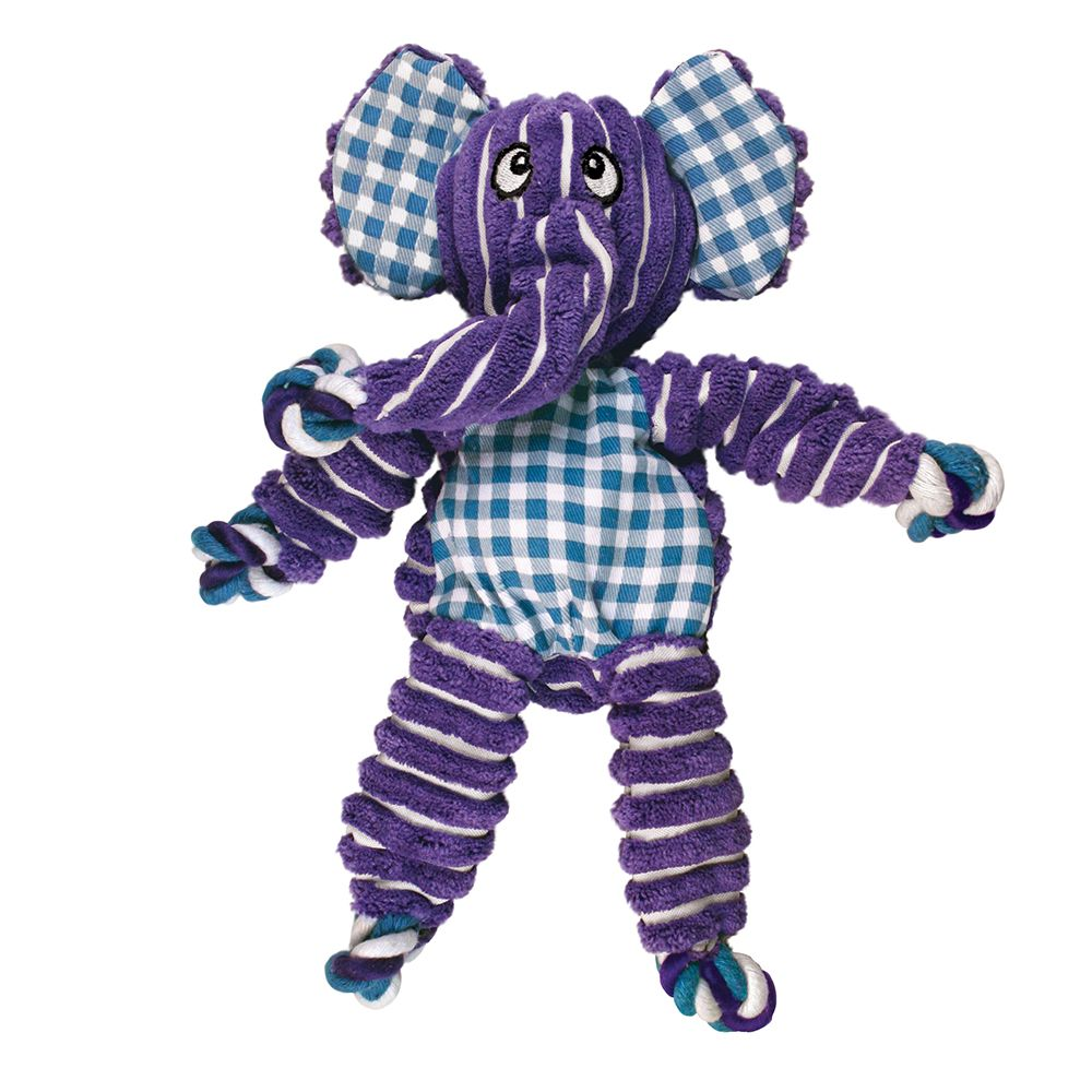 Kong Floppy Knot Purple Elephant Dog Toy