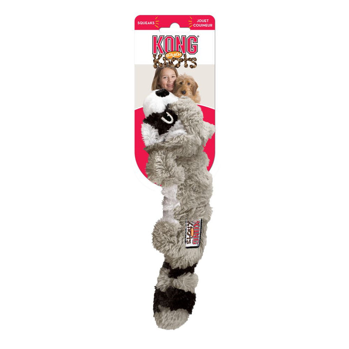 Kong Scrunch Knot Raccoon Dog Toy