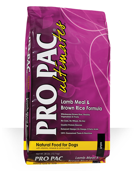 Pro Pac Ultimates Grains Dog Dry Food Lamb Meal & Brown Rice Adult