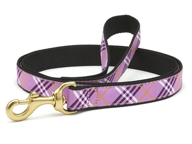 Up Country Dog Leash Lavender Lattice
