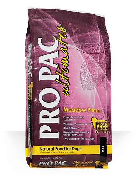 Pro Pac Ultimates Grain Free Dog Dry Food Meadow Prime