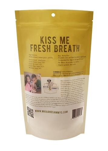 Mika & Sammy's Dog Jerky Treats Kiss Me Fresh Breath, 5oz