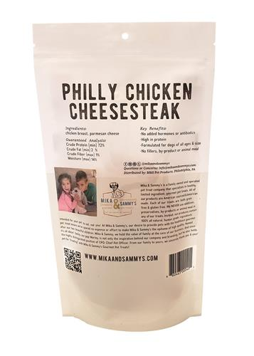 Mika & Sammy's Dog Jerky Treats Philly Chicken CheeseSteak, 5oz