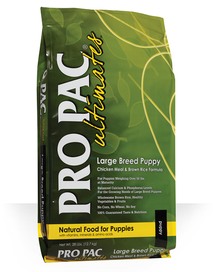 Pro Pac Ultimates Grains Dog Dry Food Puppy Large Breed Chicken Meal & Brown Rice