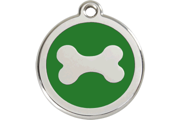 Red Dingo Enamel Pet ID Tag Bone (1BN), Small