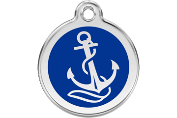 Red Dingo Enamel Pet ID Tag Anchor (1AN), Medium