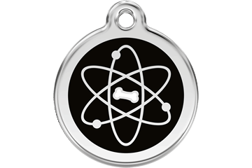 Red Dingo Enamel Pet ID Tag Atom (1AT), Small