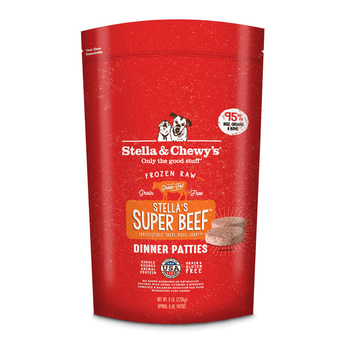 Stella & Chewy's Dog Frozen Raw Food Patties Super Beef