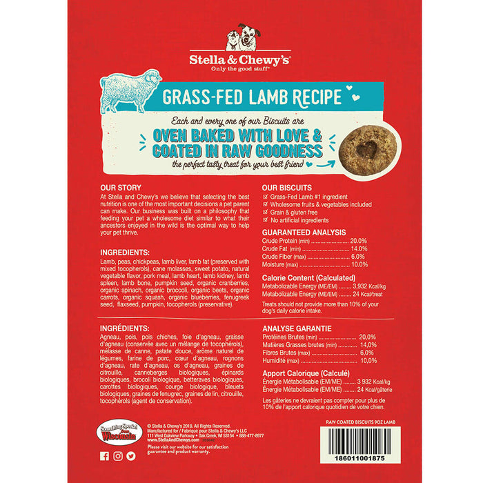 Stella & Chewy's Dog Treats Biscuits Grass-Fed Lamb