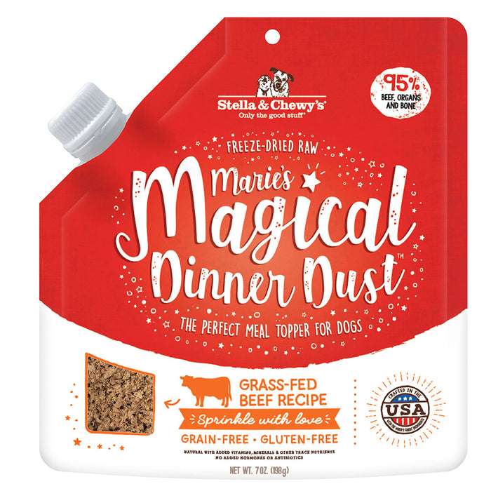 Stella & Chewy's Dog Freeze Dried Marie's Magical Dinner Dust Booster Grass-Fed Beef