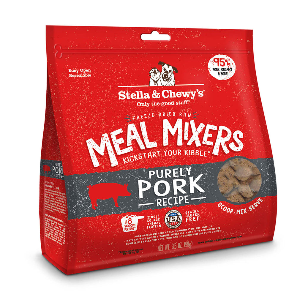 Stella & Chewy's Dog Freeze Dried Food Mixer Purely Pork