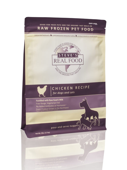 Steve's Frozen Raw Food Nuggets (Bites) Chicken