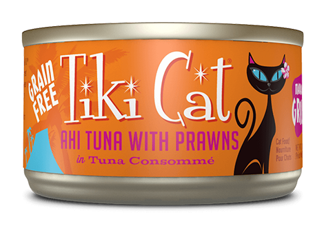 Tiki Cat Grain Free Grill Cat Can Food Manana (Tuna & Prawns), 2.8oz Single