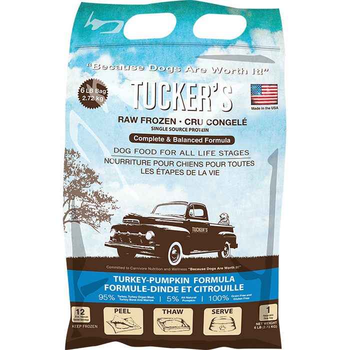 Tucker's Complete Balance Dog Frozen Raw Food Turkey & Pumpkin, 6lb