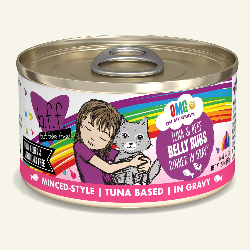 Weruva BFF Oh My Gravy Cat Can Food Belly Rubs Tuna & Beef