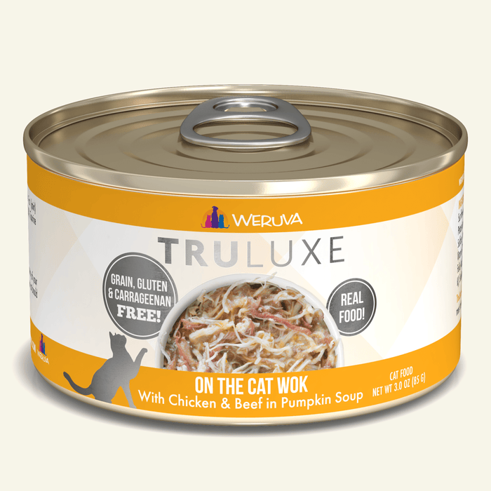 Weruva Truluxe Grain Free Cat Can Food On the Cat Wok