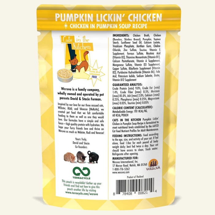 Weruva Cats in the Kitchen Wet Food Pumpkin Lickin Chicken 3oz