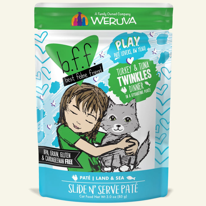 Weruva BFF Play Cat Wet Food Twinkles Turkey & Tuna 3oz