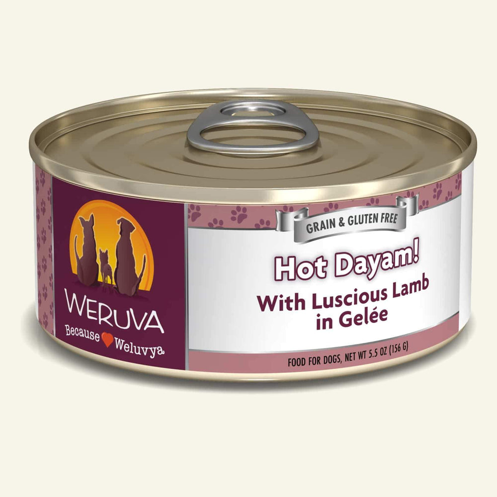 Weruva Grain Free Dog Can Food Hot Dayam