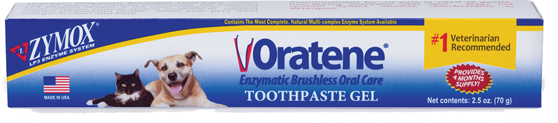 Zymox Oratene Enzymatic Oral Care Brushless Toothpaste Gel, 2.5oz