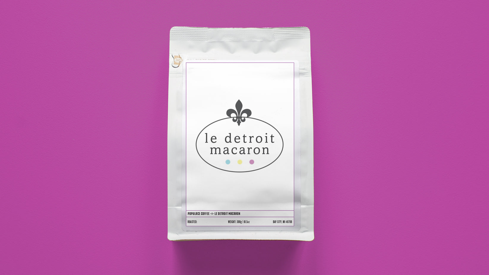 Le Detroit Macaron Support Coffee