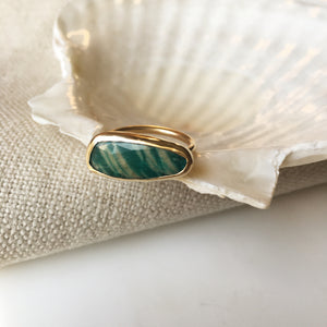 Rosecut Amazonite Ring