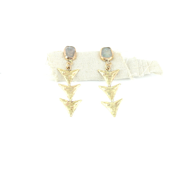 Aquamarine Arrow Earrings