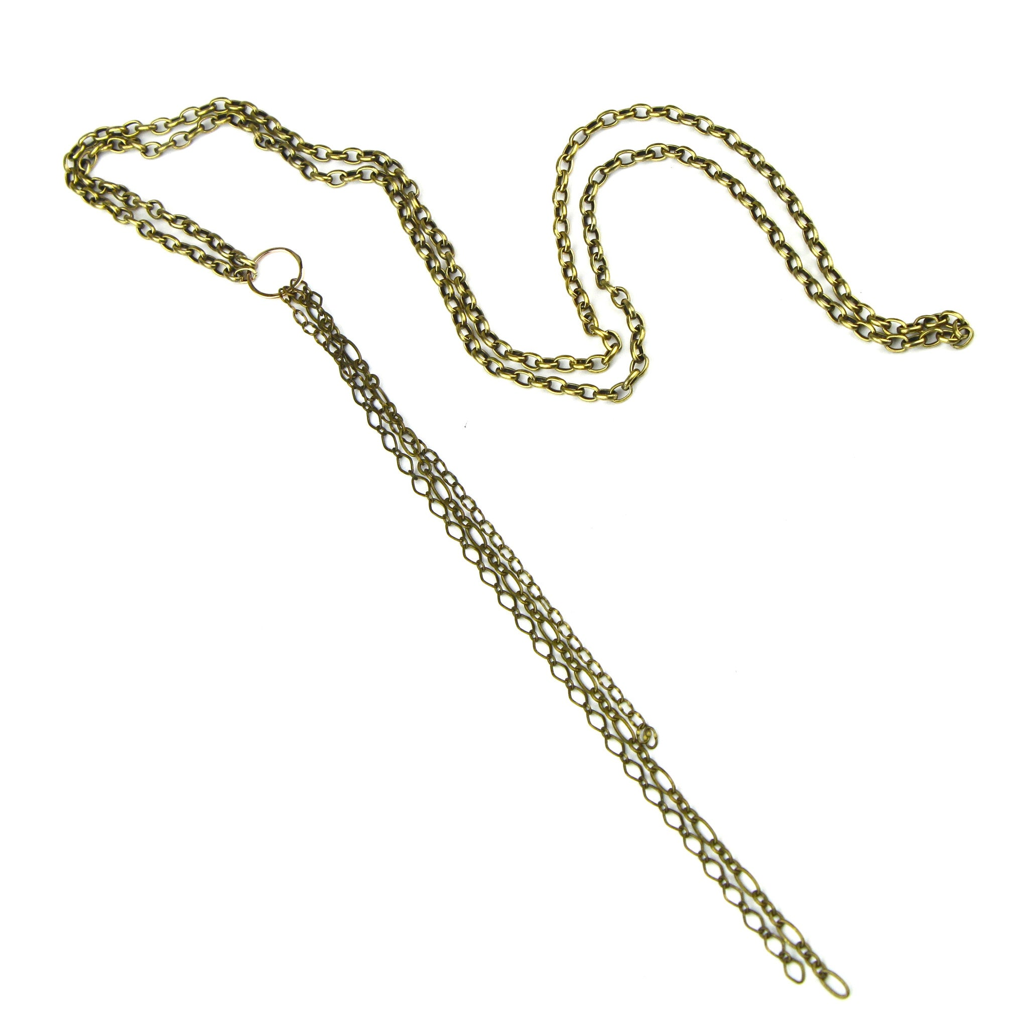 Long Brass Chain Necklace