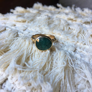 Rosecut Emerald Ring