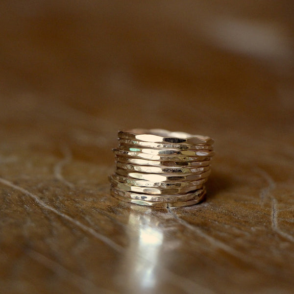 10 Gold Stacking Rings