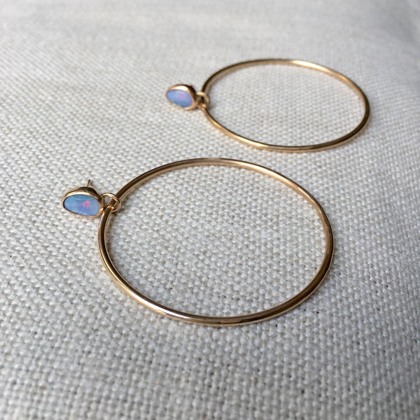 Himalayan Opal Earrings in Gold Fill