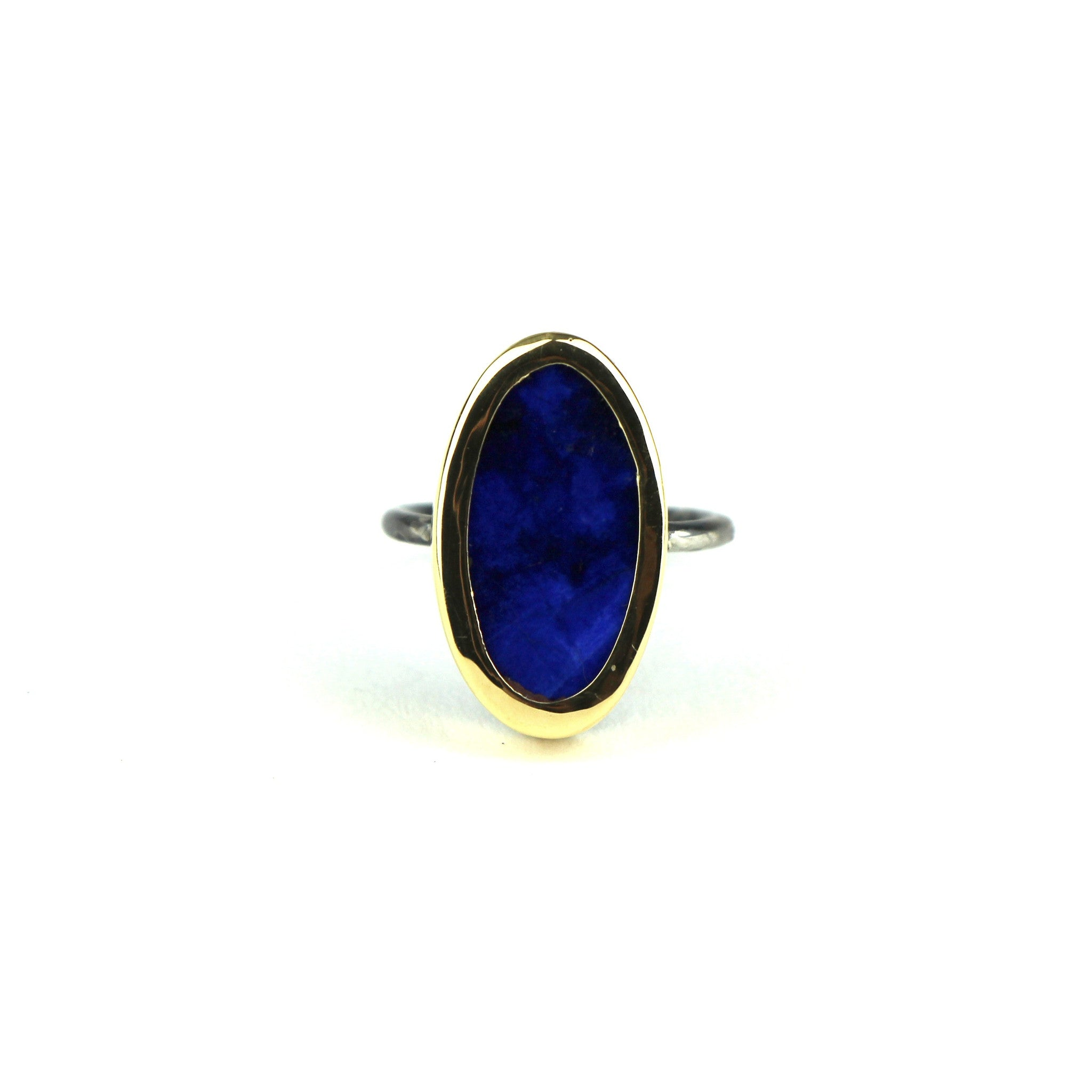 Lapis Ring in 18k Gold