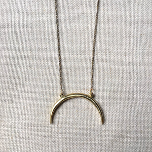 Large Lifted Crescent Necklace