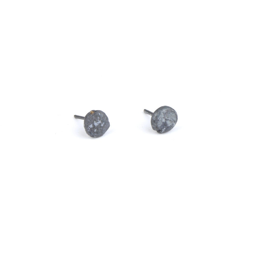 Oxidized Silver Stud Earrings