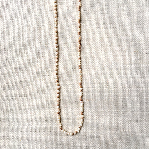 Pearl and Rose Gold Fill Convertible Strand