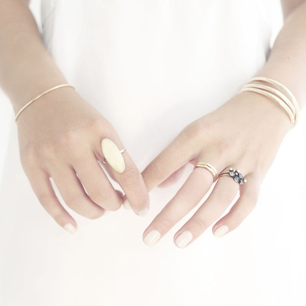 Stacking Cuff Wide Gold