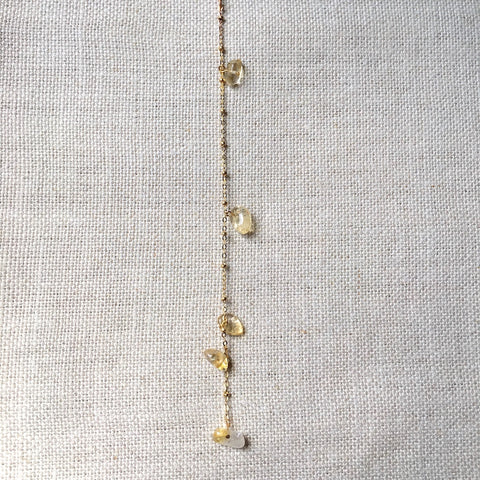Rutilated Quartz Lariat Necklace