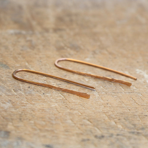 U Earrings Pink Gold
