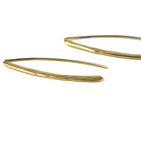 Wishbone Earrings in 14k Gold