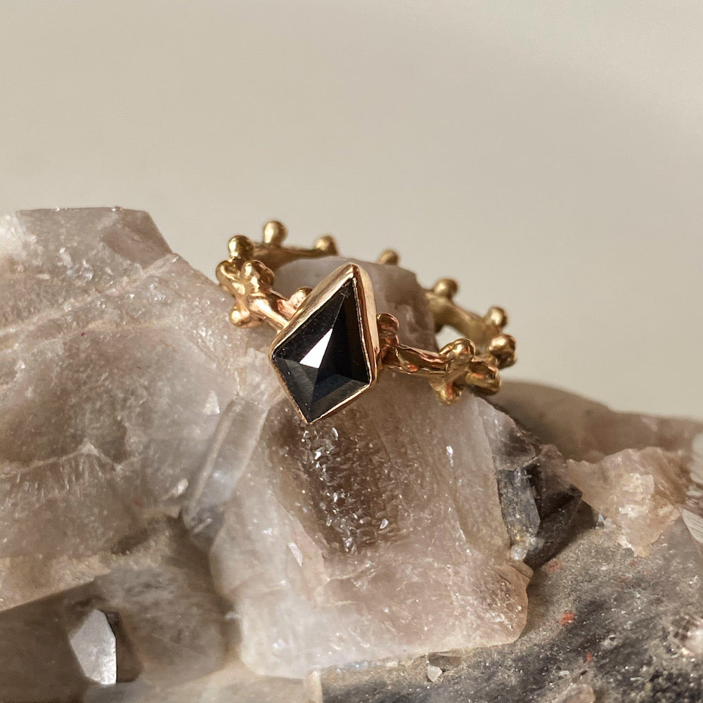 Black Kite Diamond Jupiter Ring