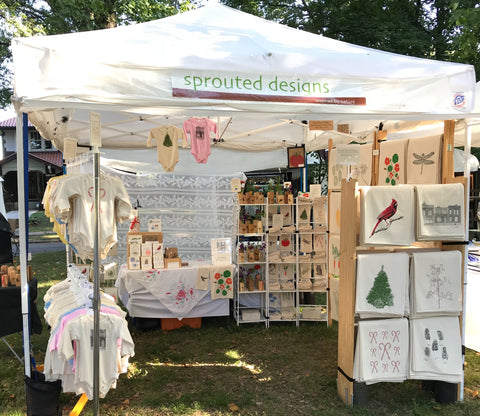 Sprouted Designs art fair booth
